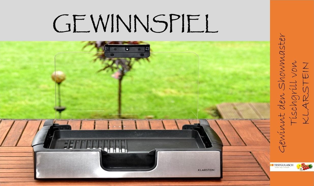 gewinnspiel showmaster tisch grill testgulasch. Black Bedroom Furniture Sets. Home Design Ideas