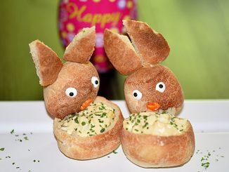 Hasenbrötchen mit Eiersalat