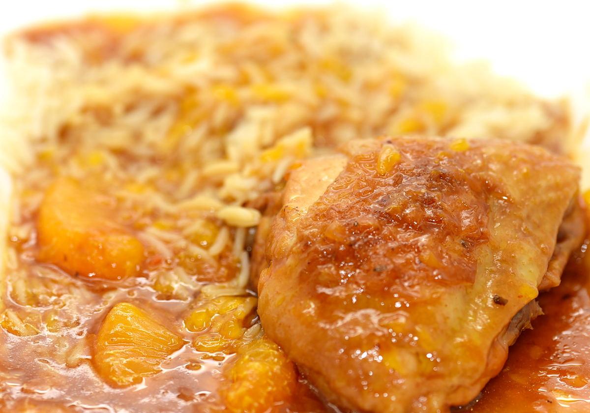 Hähnchen in fruchtiger Mandarinen Sojasauce
