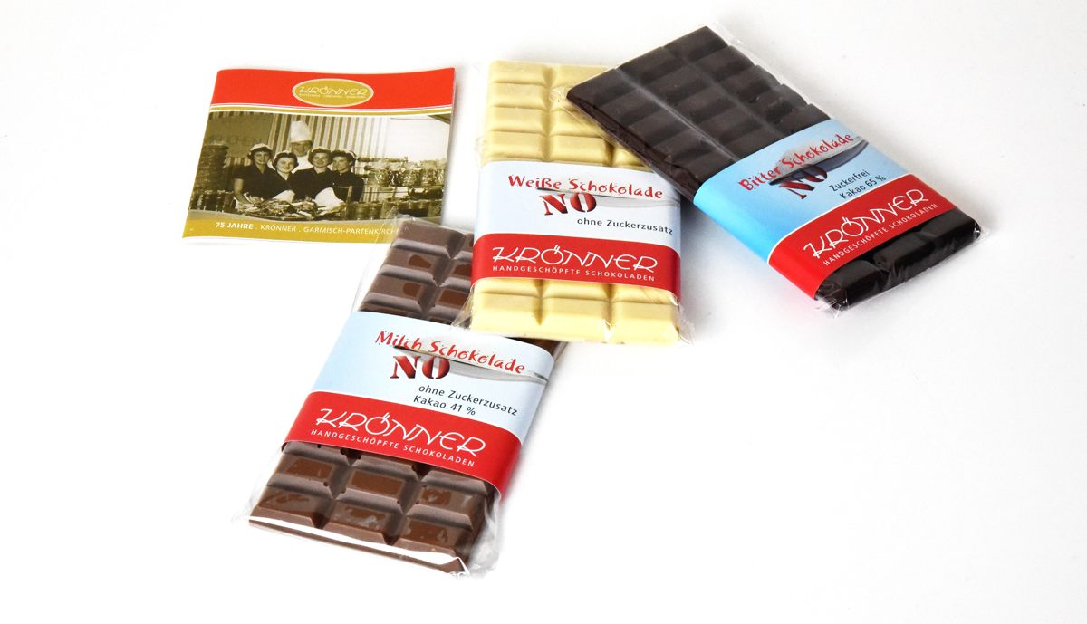 """""""No Sugar"""" Schokolade von Krönner"""